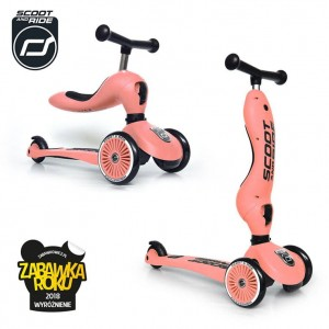 Scoot and Ride Highwaykick 1 Hulajnoga i Jeździk 2w1 Peach 1-5 lat