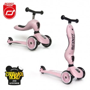Scoot and Ride Highwaykick 1 Hulajnoga i Jeździk 2w1 Rose 1-5 lat