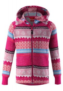Bluza polarowa z kapturem Reima Northern Raspberry pink