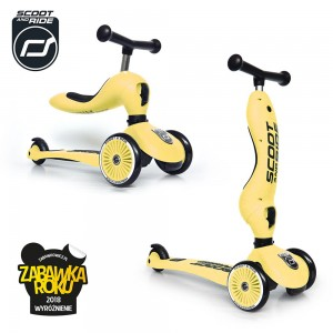 Scoot and Ride Highwaykick 1 Hulajnoga i Jeździk 2w1 Lemon 1-5 lat