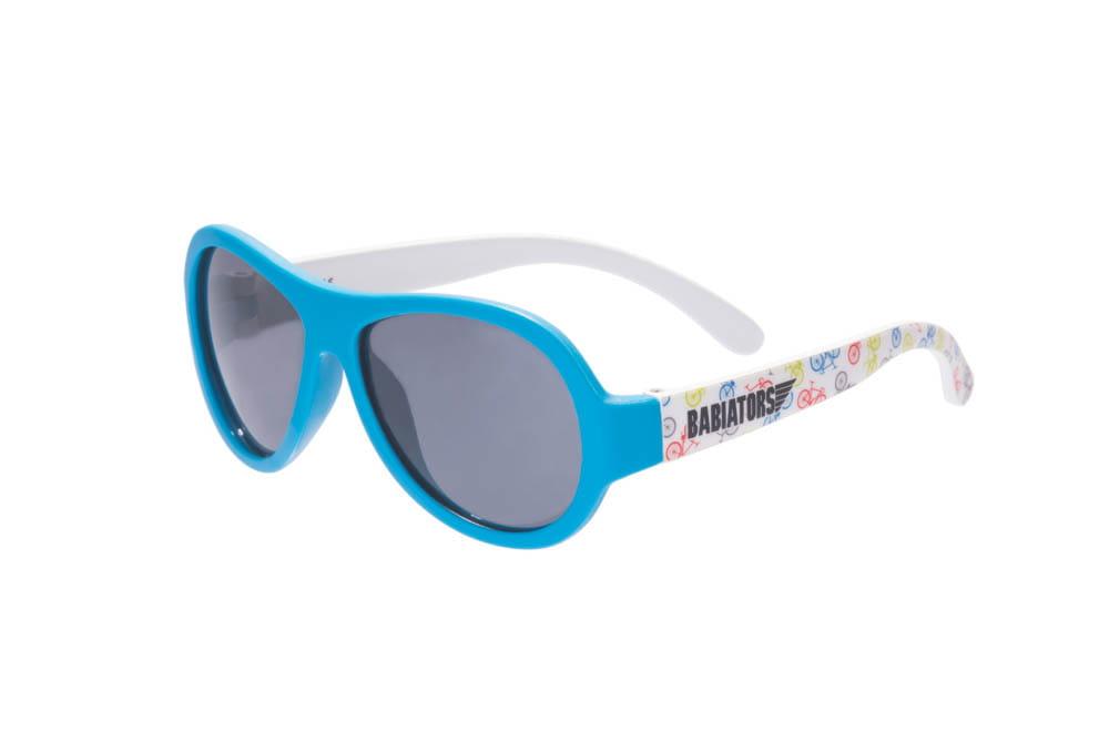 Okulary przeciwsłoneczne dla dzieci z polaryzacją Babiators Wheel Deal niebieskie 0 2